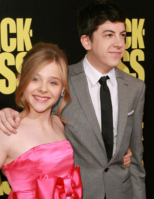 Chloë Grace Moretz and Christopher Mintz-Plasse at Kick-Ass (2010)