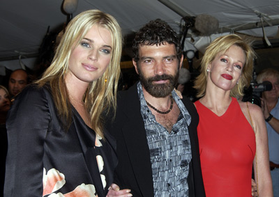 Antonio Banderas, Melanie Griffith, and Rebecca Romijn at Femme Fatale (2002)