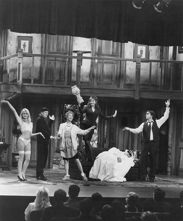 Marilu Henner, John Ritter, Carol Burnett, Denholm Elliott, Christopher Reeve, and Nicollette Sheridan in Noises Off... (1992)