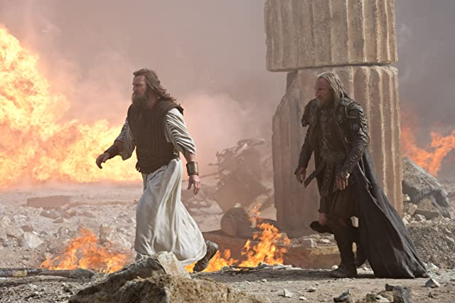 Ralph Fiennes and Liam Neeson in Wrath of the Titans (2012)