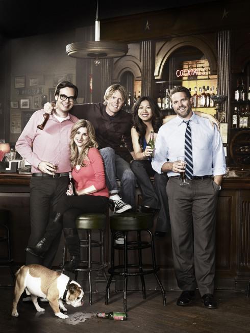 David Denman, Liza Lapira, Kris Marshall, Nelson Franklin, and Aya Cash in Traffic Light (2011)