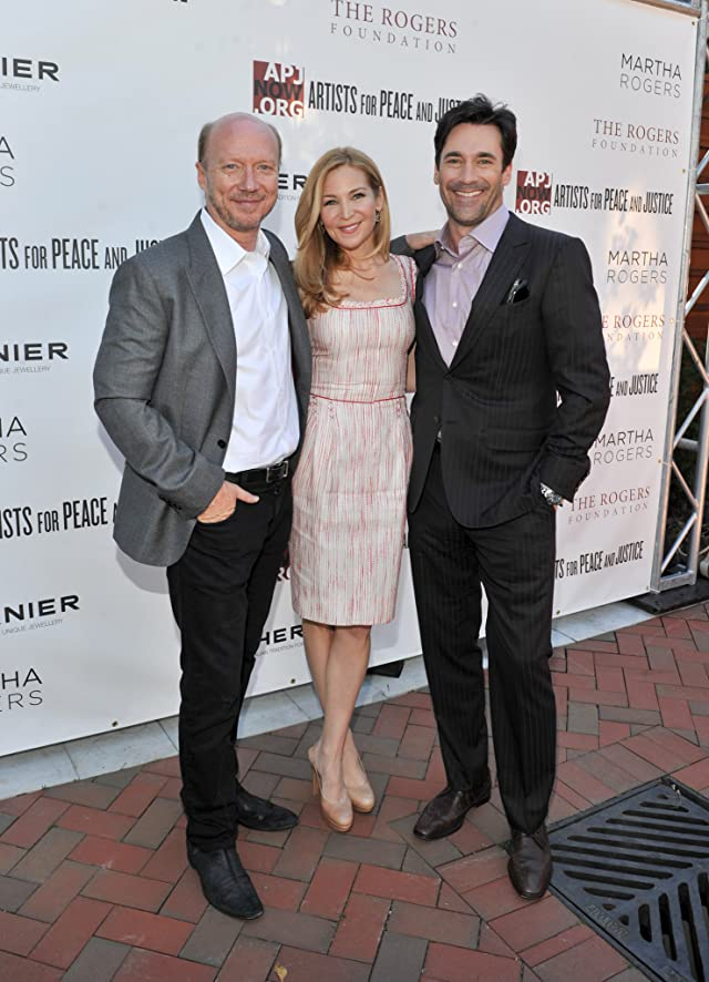 Paul Haggis, Jon Hamm and Jennifer Westfeldt