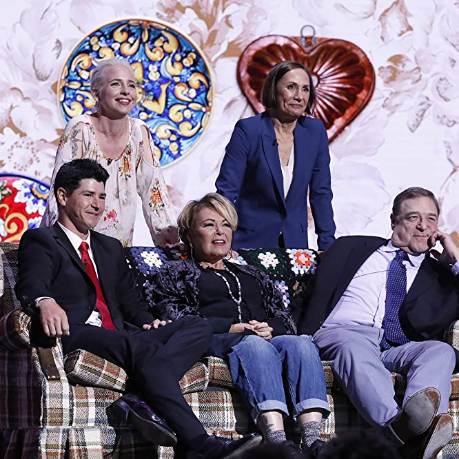 John Goodman, Roseanne Barr, Michael Fishman, Alicia Goranson, and Laurie Metcalf