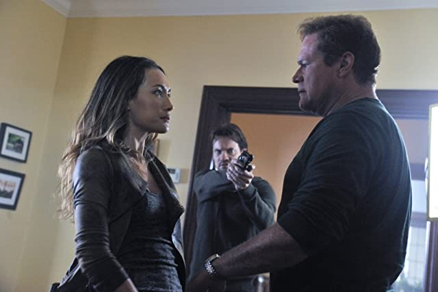 David Keith, Maggie Q, and Shane West in Nikita (2010)