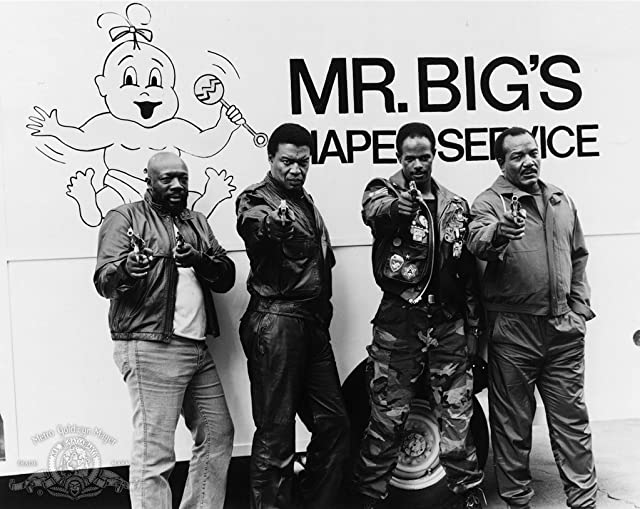 Jim Brown, Isaac Hayes, Keenen Ivory Wayans, and Bernie Casey in I'm Gonna Git You Sucka (1988)