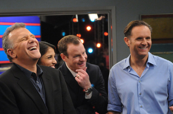 Paul Reiser, Mark Burnett, Larry Dorf, and Nazneen Contractor in The Paul Reiser Show (2011)