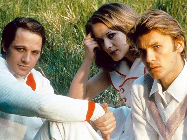 Helmut Berger, Lino Capolicchio, and Dominique Sanda in The Garden of the Finzi-Continis (1970)