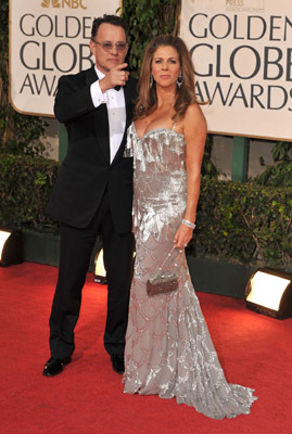 Tom Hanks and Rita Wilson at an event for The 66th Annual Golden Globe Awards (2009)