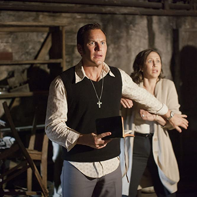 Vera Farmiga and Patrick Wilson in The Conjuring (2013)
