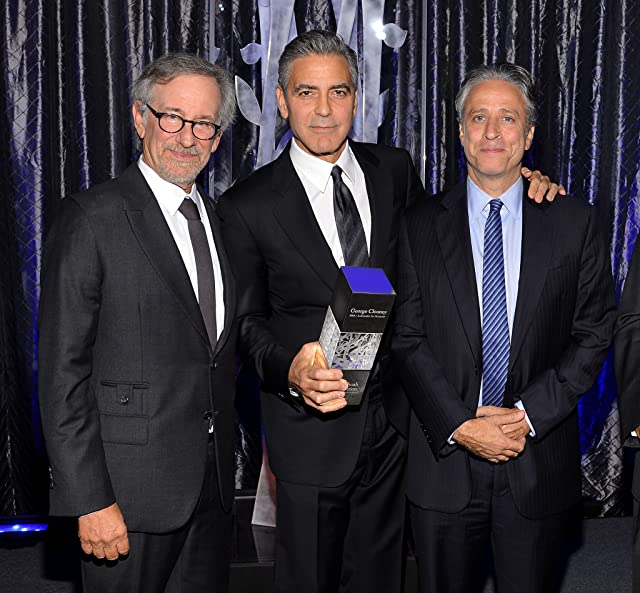 George Clooney, Steven Spielberg, and Jon Stewart