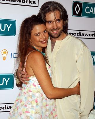 Kari Wuhrer and James Scura at Carpool Guy (2005)