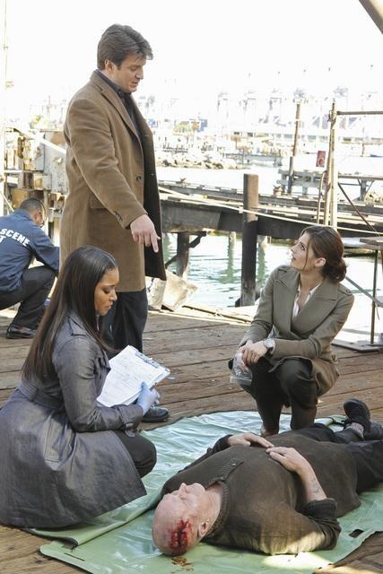 Tamala Jones, Nathan Fillion, and Stana Katic in Castle (2009)