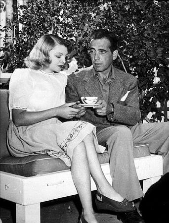 Humphrey Bogart and his third wife, Mayo Methot, at home, circa 1944.