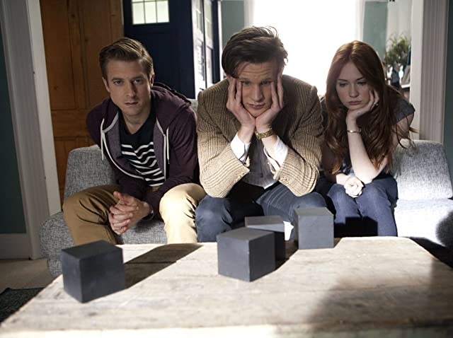 Matt Smith, Karen Gillan, and Arthur Darvill in Doctor Who (2005)