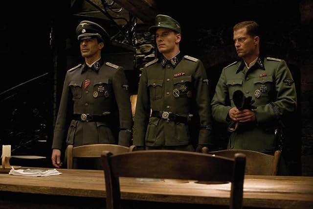 Til Schweiger, Gedeon Burkhard, and Michael Fassbender in Inglourious Basterds (2009)