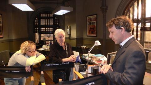 Sam Raimi, Rosemary Harris, and Laura Ziskin in Spider-Man 3 (2007)