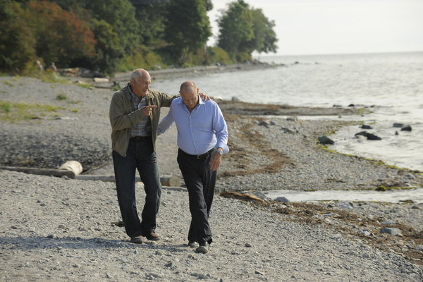 Corbin Bernsen and Max Gail in Psych (2006)