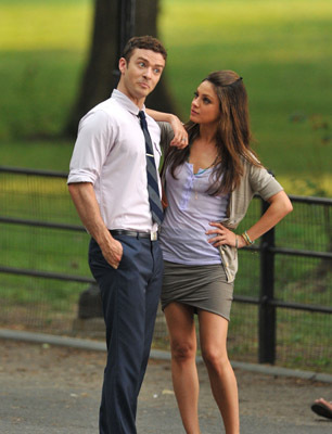 Mila Kunis and Justin Timberlake at Friends with Benefits (2011)