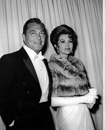 Cyd Charisse and Tony Martin at the Academy Awards circa 1960