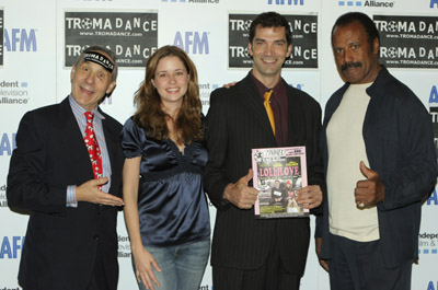 Stephen Blackehart, Fred Williamson, Jenna Fischer, and Lloyd Kaufman at LolliLove (2004)