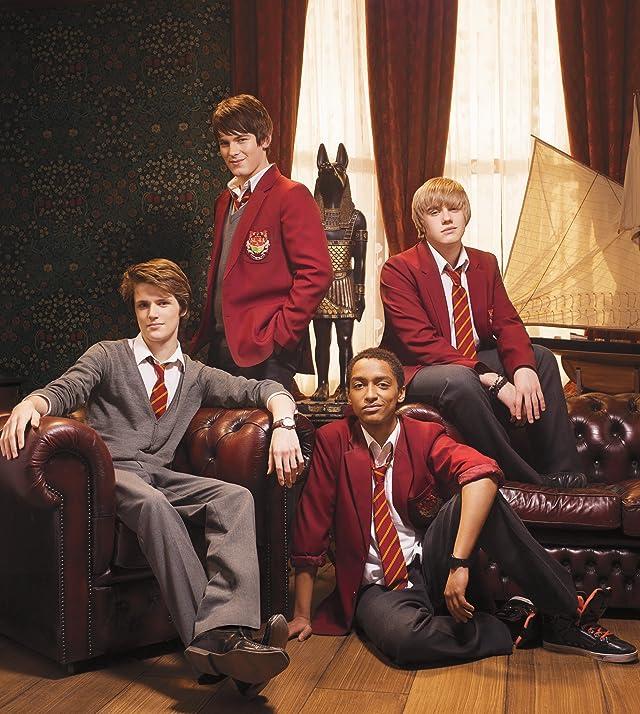 Bobby Lockwood, Eugene Simon, Brad Kavanagh, and Alex Sawyer in House of Anubis (2011)