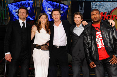 Liam Neeson, Jessica Biel, Bradley Cooper, Sharlto Copley, and Quinton 'Rampage' Jackson at an event for The A-Team (2010)