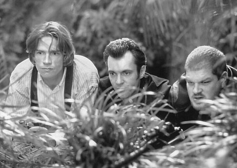 Thomas Haden Church, Abraham Benrubi, and Greg Cruttwell in George of the Jungle (1997)
