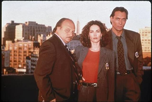 Kim Delaney, Dennis Franz, and Jimmy Smits in NYPD Blue (1993)