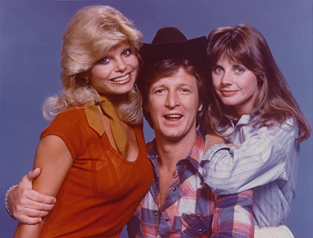 Loni Anderson, Gary Sandy, and Jan Smithers in WKRP in Cincinnati (1978)
