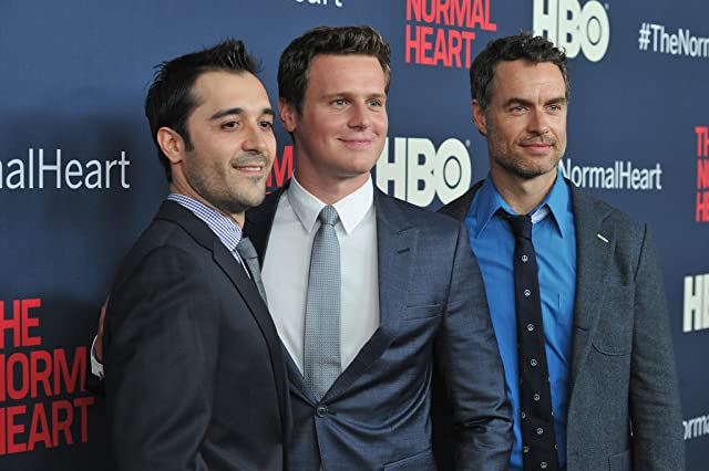 Murray Bartlett, Jonathan Groff, and Frankie J. Alvarez at an event for The Normal Heart (2014)