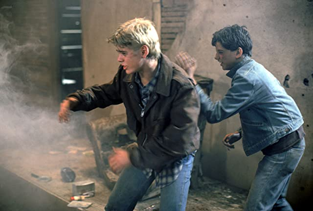 C. Thomas Howell and Ralph Macchio in The Outsiders (1983)