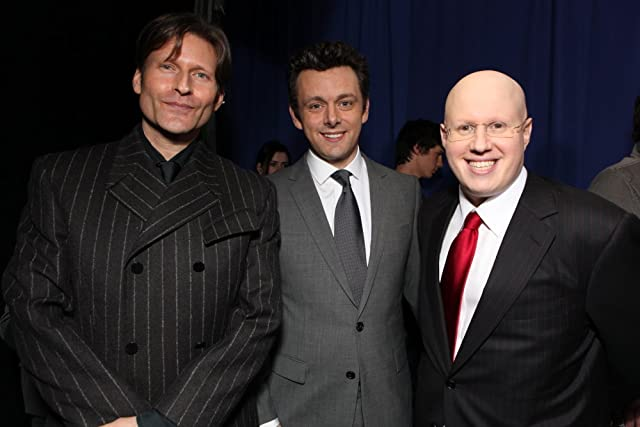 Crispin Glover, Matt Lucas, and Michael Sheen at Alice in Wonderland (2010)