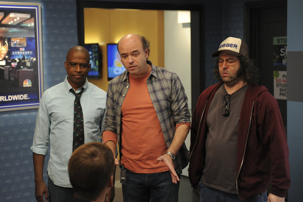 Scott Adsit, Judah Friedlander, and Keith Powell in 30 Rock (2006)