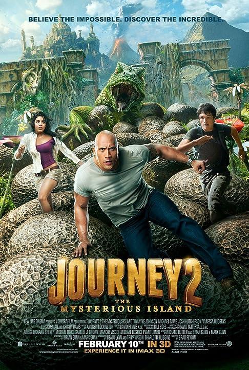 Dwayne Johnson, Vanessa Hudgens, and Josh Hutcherson in Journey 2: The Mysterious Island (2012)