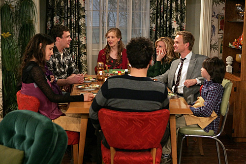 Neil Patrick Harris, Alyson Hannigan, Frances Conroy, Jason Segel, Josh Radnor, and Cobie Smulders in How I Met Your Mother (2005)