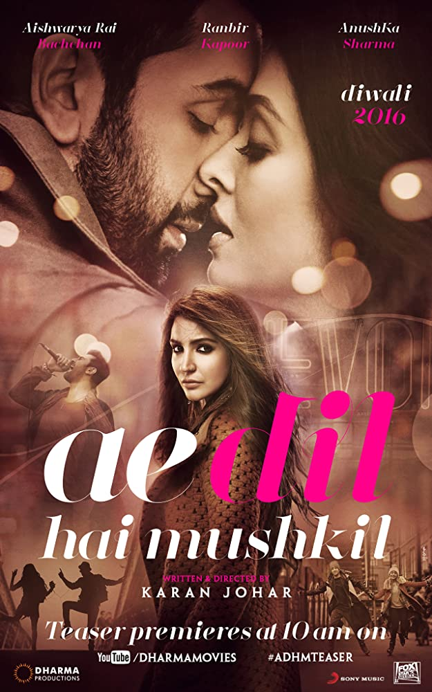 Ae Dil Hai Mushkil (2016) Hindi 720p DVDRip x264 AAC 5.1 ESub