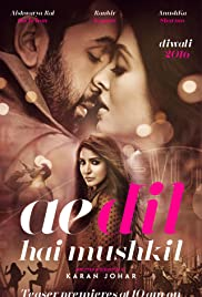 Ae Dil Hai Mushkil (2016) DVDRip 720p Hindi Movie – 1.1 GB – Team PHDM – 1.0 GB