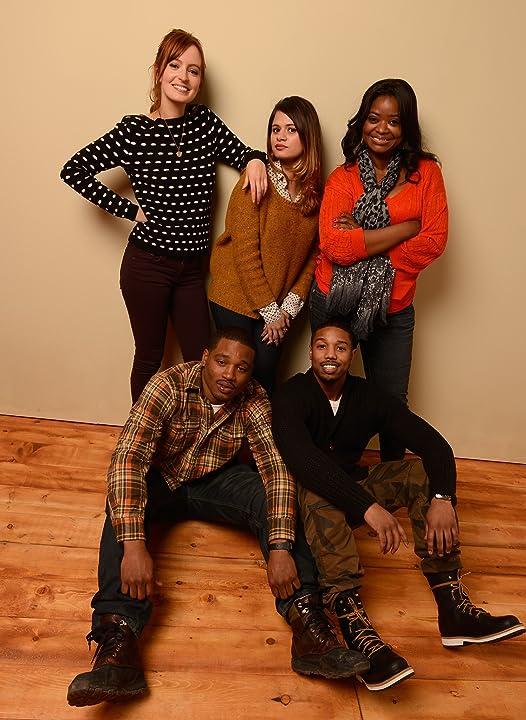 Melonie Diaz, Michael B. Jordan, Octavia Spencer, Ahna O'Reilly, and Ryan Coogler at Fruitvale Station (2013)