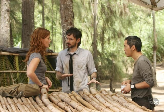 Jeremy Davies, Ken Leung, and Rebecca Mader in Lost (2004)