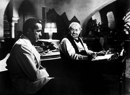 Humphrey Bogart and S. Z. Sakall in