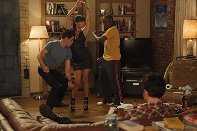 Max Greenfield, Hannah Simone, Lamorne Morris, and Jake Johnson in New Girl (2011)