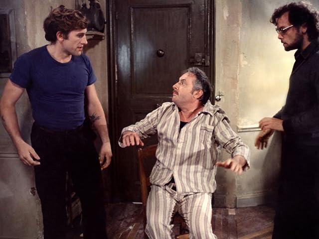 Gérard Depardieu, Patrick Dewaere, and Michel Serrault in Get Out Your Handkerchiefs (1978)