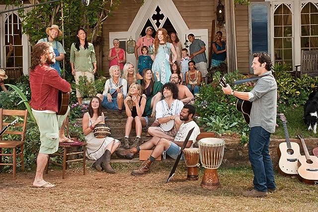 Jennifer Aniston, Malin Akerman, Kerri Kenney, Paul Rudd, and Justin Theroux in Wanderlust (2012)