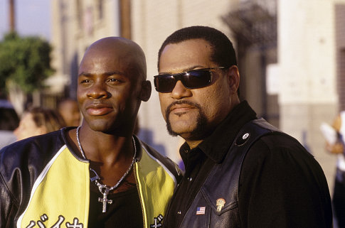 The young motorcycle racing prodigy Kid (DEREK LUKE, left) is determined to win the title King of Cali from Smoke (LAURENCE FISHBURNE).