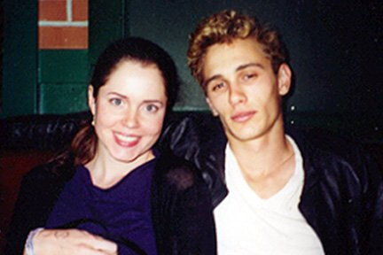 Jeanne Karsell and James Franco at the wrap party for James Dean (2001)
