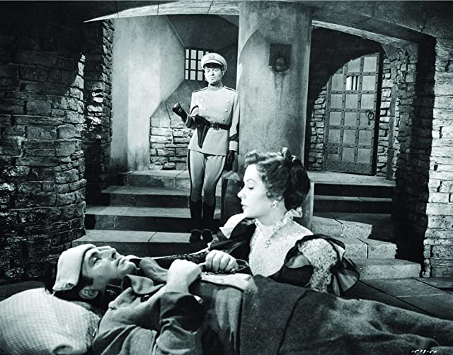 James Mason, Stewart Granger, and Jane Greer in The Prisoner of Zenda (1952)