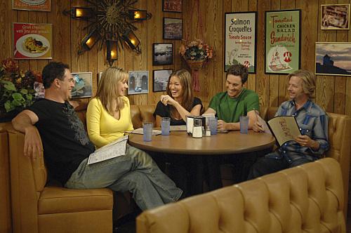 Oliver Hudson, David Spade, Bianca Kajlich, Megyn Price, and Patrick Warburton in Rules of Engagement (2007)