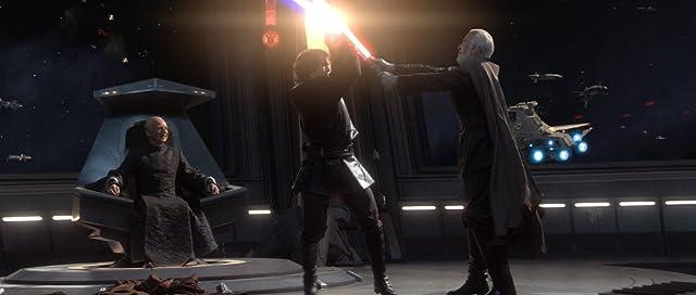 Christopher Lee, Ian McDiarmid, and Hayden Christensen in Star Wars: Episode III - Revenge of the Sith (2005)