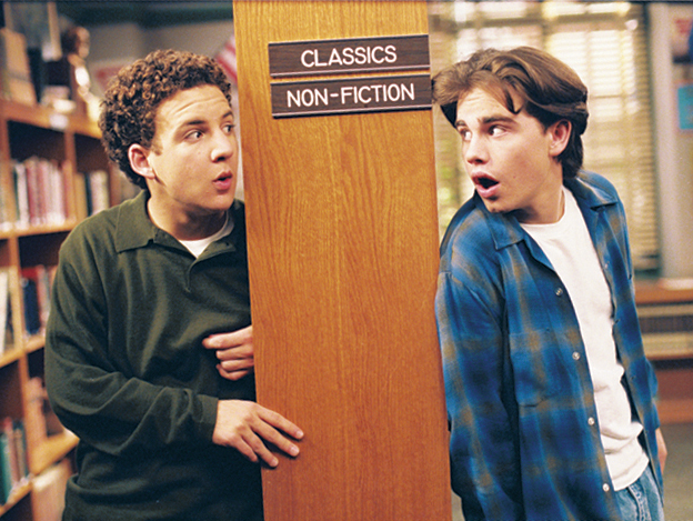 Ben Savage and Rider Strong in Boy Meets World (1993)