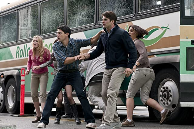 Emma Bell, Nicholas D'Agosto, and Miles Fisher in Final Destination 5 (2011)